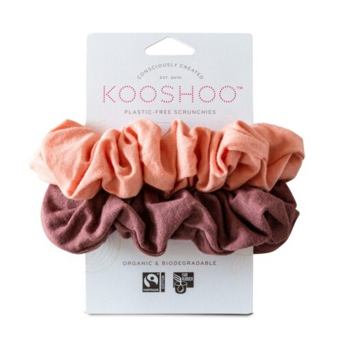 kooshoo scrunchie coral rose