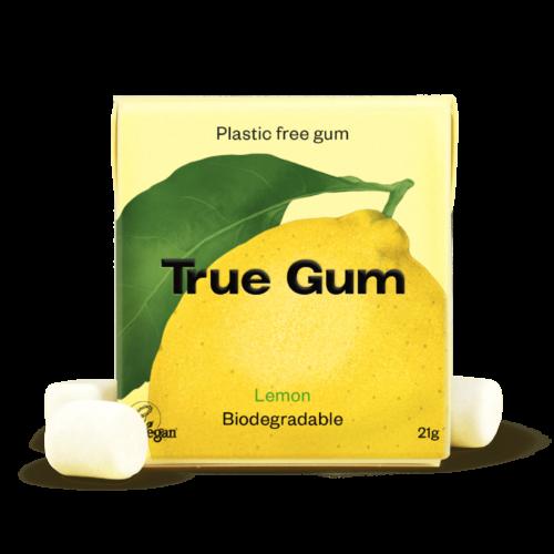 true gum sitrontyggis uten plast