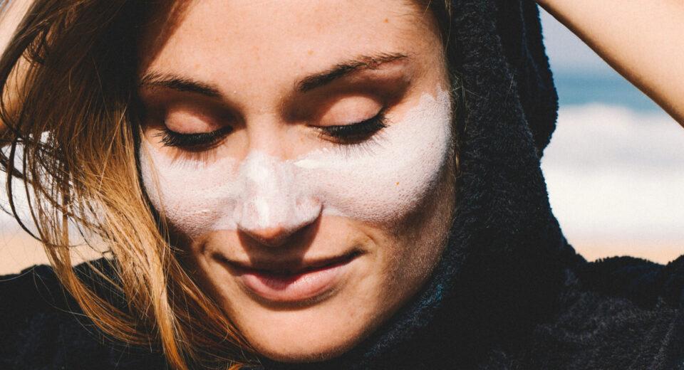 mineralsolkrem til ansiktet